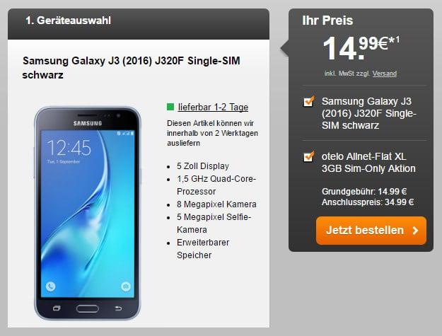 Samsung Galaxy J3 + otelo Allnet-Flat XL