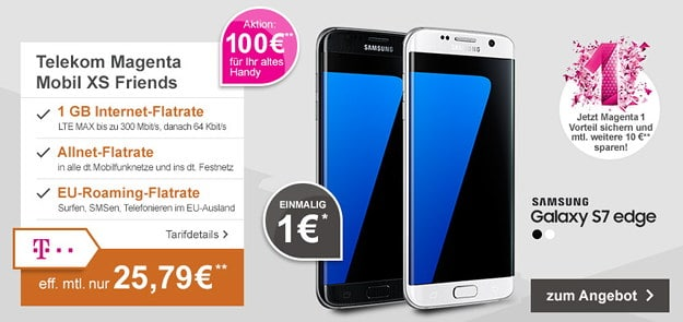 Samsung Galaxy S7 + Telekom Magenta Mobil XS