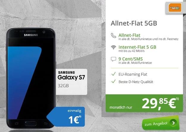 Samsung Galaxy S7 + klarmobil Allnet-Flat 5GB