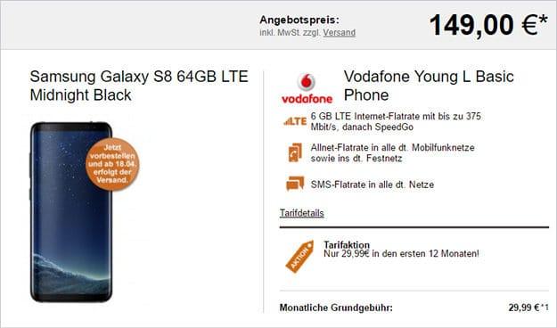Samsung Galaxy S8 + Vodafone Young L