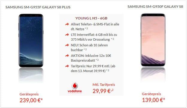 Samsung Galaxy S8 + Vodafone Young L Pb24