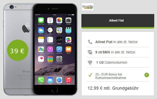 iPhone 6 + klarmobil Allnet-Flat