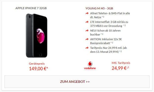 iPhone 7 + Vodafone Smart L 2