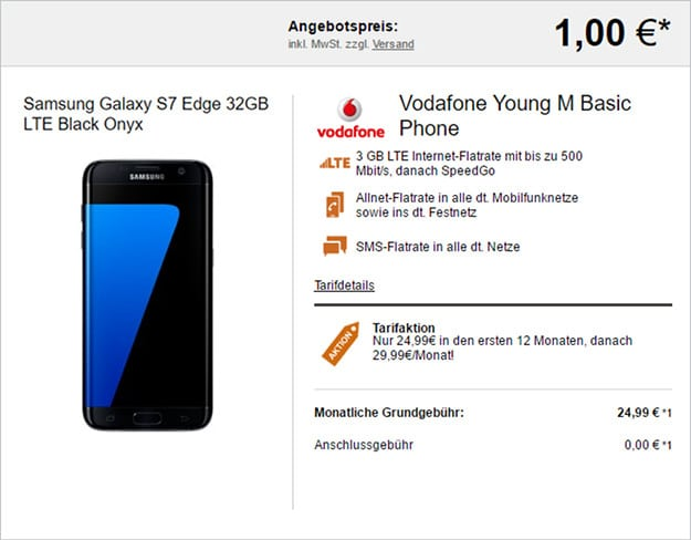 samsung galaxy s7 edge + vodafone young m