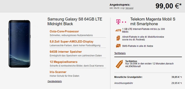 samsung galaxy s8 magenta mobil s