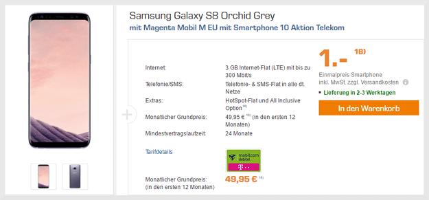 samsung galaxy s8 + magenta mobil m friends