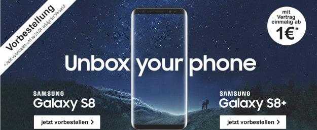 samsung galaxy s8 plus + magenta mobil m
