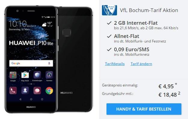 Huawei P10 Lite + VfL Bochum Tarif