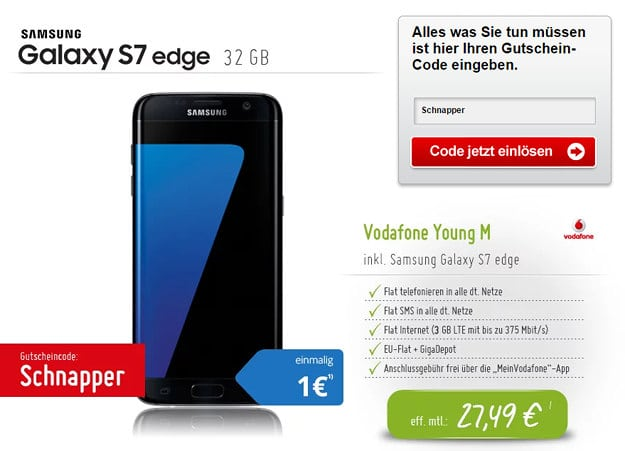 Samsung Galaxy S7 Edge + Vodafone Young M