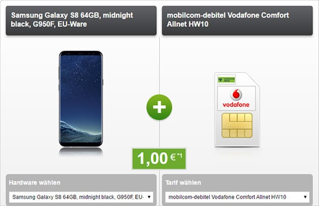 Samsung Galaxy S8 + Vodafone Comfort Allnet (md)
