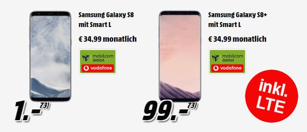 Samsung Galaxy S8 + Vodafone Smart L (md)