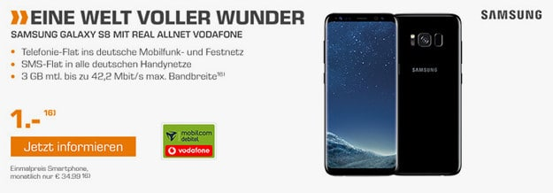 Samsung Galaxy S8 + Vodafone real Allnet (md)