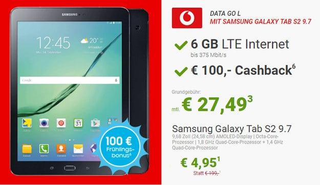 Samsung Galaxy Tab S2 + Vodafone DataGo L