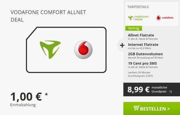 Vodafone Comfort Allnet - 8,99 EUR