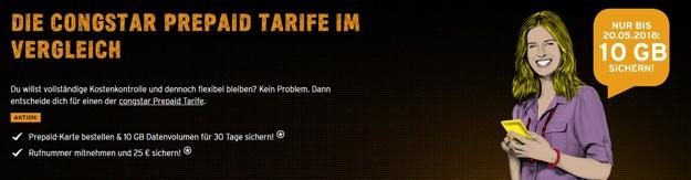 congstar Prepaid Tarife günstig bestellen