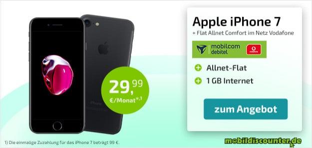 iphone 7 32gb + vodafone flat allnet comfort md