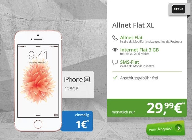 iphone SE + otelo Allnet Flat XL