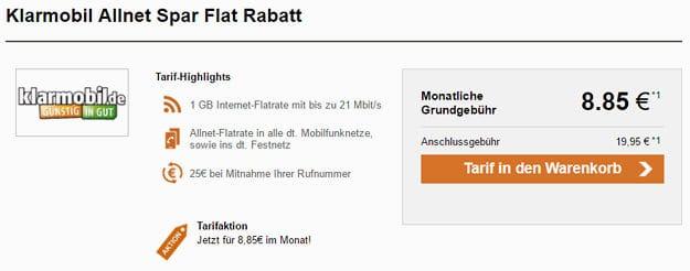 klarmobil Allnet-Flat Telekom-Netz LogiTel