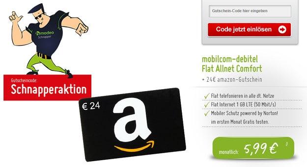 o2 Flat Allnet-Comfort (md) mit Amazon-Gutschein