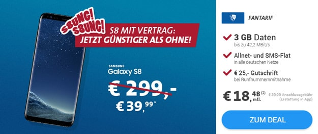 Samsung Galaxy S8 mit VFL Bochum Fan-Tarif