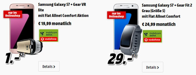 samsung galaxy s7 + gear vr brille