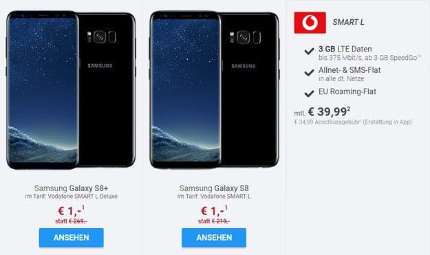 samsung galaxy s8 + vodafone smart l