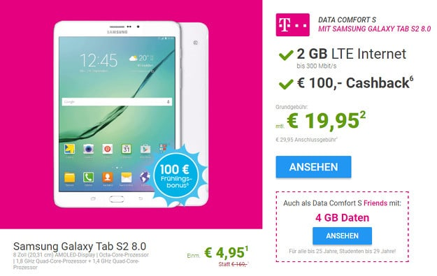 samsung galaxy tab 2.0 data comfort s friends