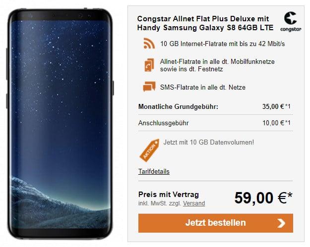 Galaxy S8 + congstar Allnet-Flat Plus