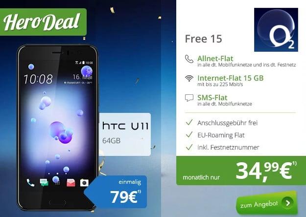 HTC U11 + o2 Free 15