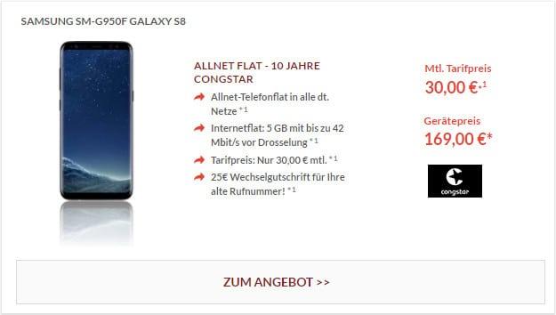 Samsung Galaxy S8 + congstar Allnet-Flat