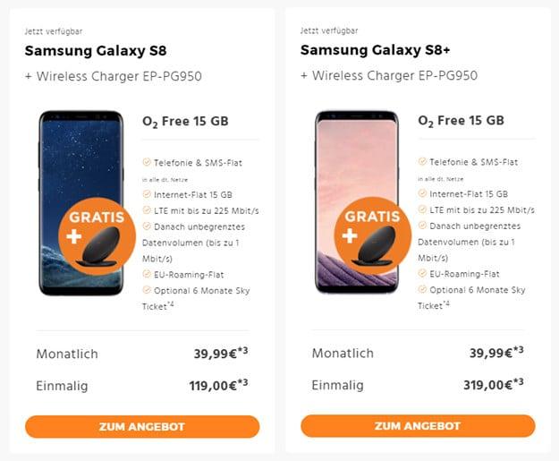 Samsung Galaxy S8 + o2 Free 15