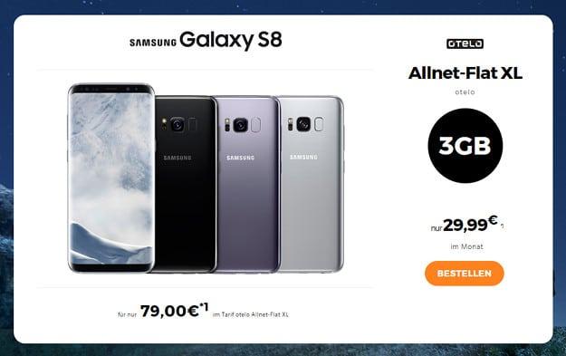 Samsung Galaxy S8 + otelo Allnet-Flat XL
