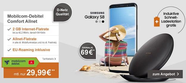 Vodafone Comfort Allnet (md) + Samsung Galaxy S8 + Ladestation