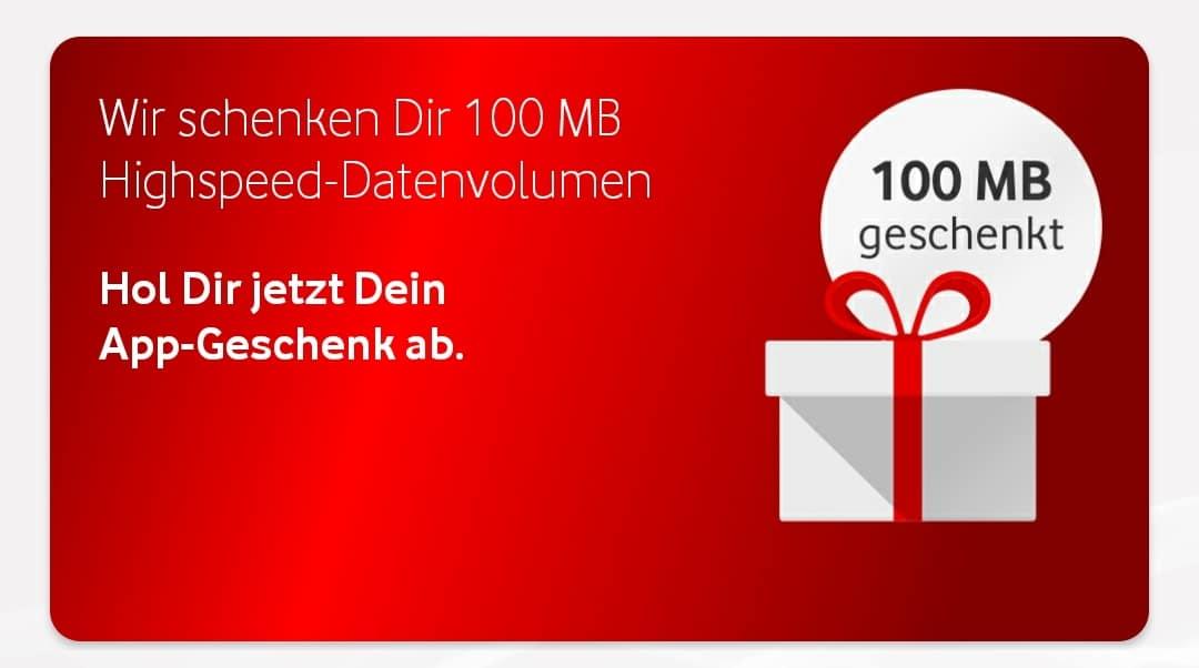 Vodafone MeinVodafone App Geschenk 100 MB