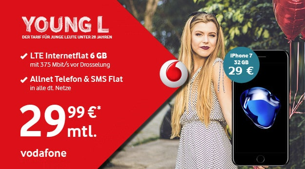 iPhone 7 + Vodafone Young L