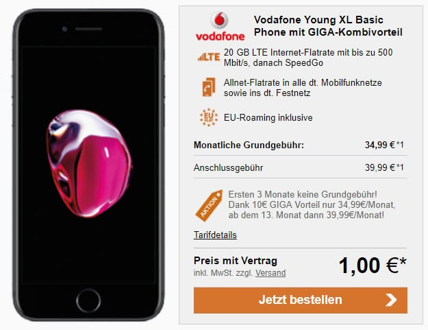 iPhone 7 + Vodafone Young XL