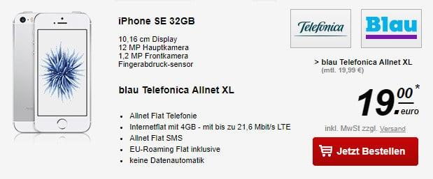 iPhone SE + Blau Allnet XL