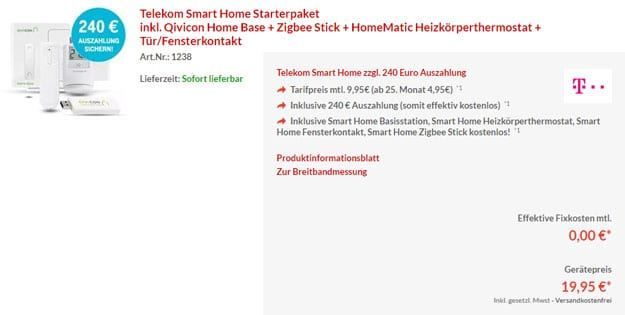 telekom smart home eff kostenlos hardware f r nur 19 95. Black Bedroom Furniture Sets. Home Design Ideas