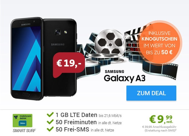 Galaxy A3 + o2 Smart Surf (md)