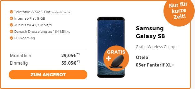 Galaxy S8 + Mainz 05er Tarif