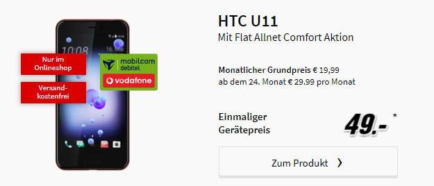 HTC U11 + Vodafone Flat Allnet Comfort (md)