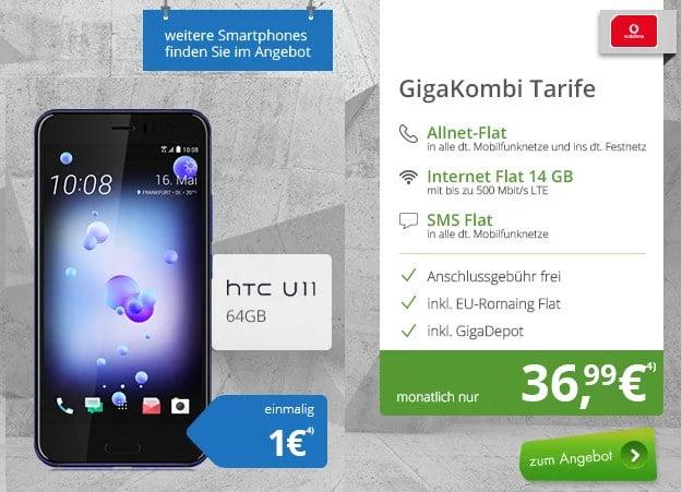 HTC U11 + Vodafone Red M GigaKombi