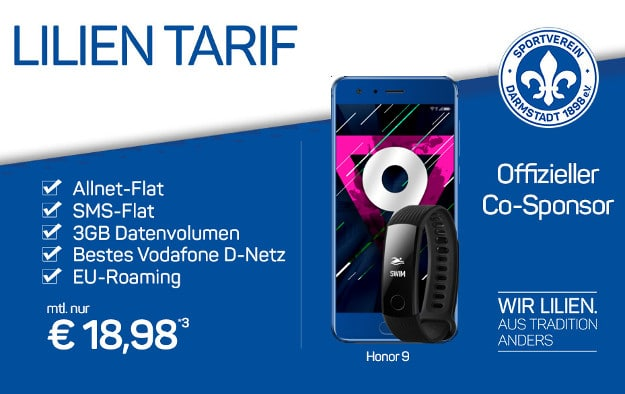 Honor 9 + Lilien-Tarif