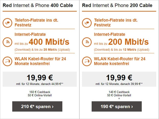 Vodafone Red Internet Phone Cable