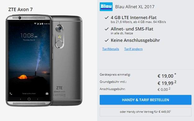ZTE Axon 7 + Blau Allnet XL