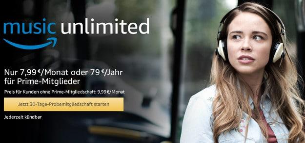 Amazon Music Unlimited 30 Tage Kostenlos Und Unverbindlich Testen