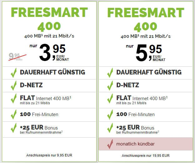 freeSMART 400 Telekom