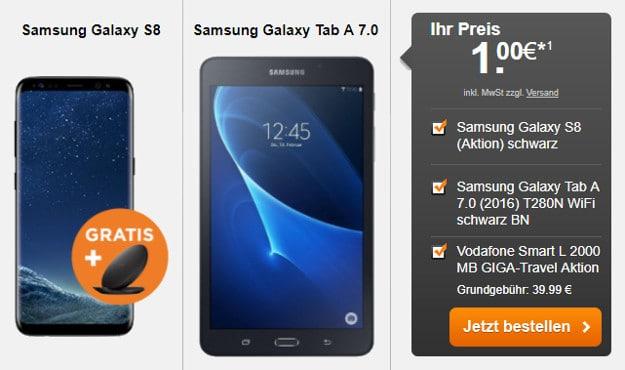 samsung galaxy s8 + galaxy tab a 7.0 + smart l