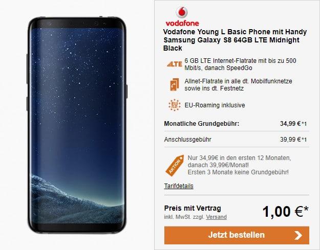 Samsung Galaxy S8 Vodafone Young L Für Eff 695 Mtl