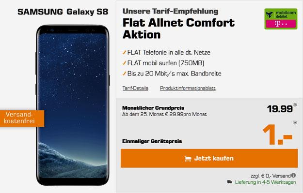 Samsung Galaxy S8 - Flat Allnet Comfort Telekom md